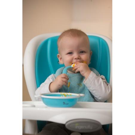 Bojungle  Cuillère et fourchette orientables Turquoise