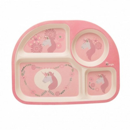 Bojungle  Set repas ecologique en maïs - licorne rose