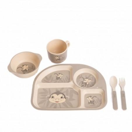 Bojungle  Set repas ecologique en maïs - singe gris