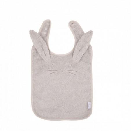 Bojungle  Bavoir eco eponge lapin  gris