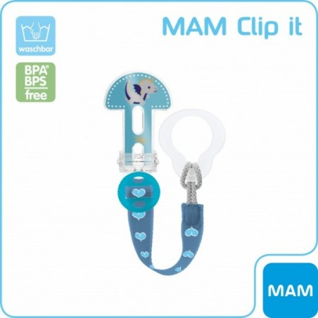MAM Attache sucette clip it - bleu