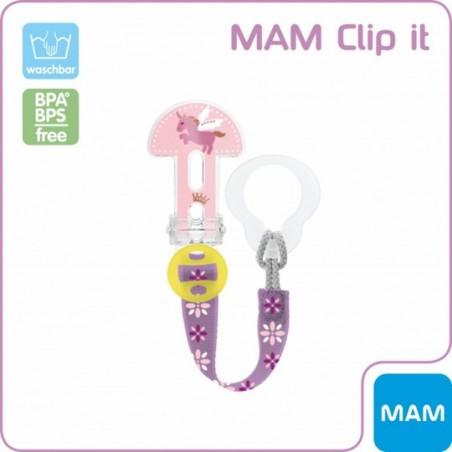 MAM Attache sucette clip it - rose