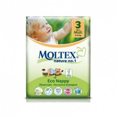 Moltex Couches bébé 3 midi 4-9kg 34 pièces