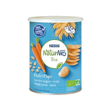 Naturnes NutriPops Céréales Soufflées Carotte 5 pièces Bio