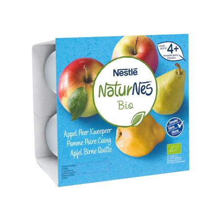 Naturnes Pomme Poire Coing 4 pièces Bio