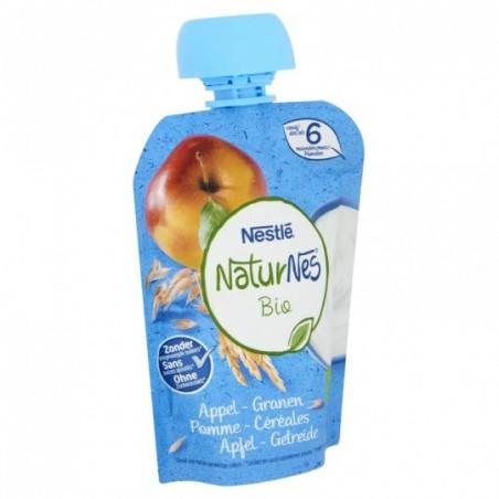 Naturnes Pomme Céreales - gourde 7 pièces Bio