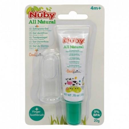 Nuby Tand- en tandvleesgel + vingertandenborsteltje
