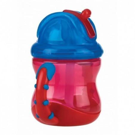 Nuby Flip-It™ antilekbeker met handvatten - rood
