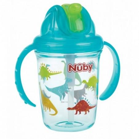 Nuby Flip-It Antilekbeker met Handvatten uit Tritan™ - Aqua