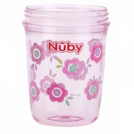 Nuby Gobelet Flip-it en Tritan™ avec anses - rose