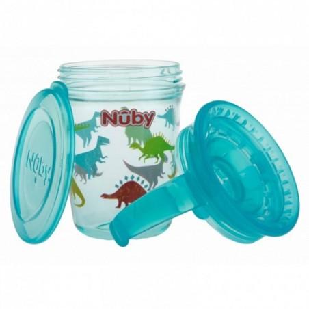 Nuby 360° Wonder cup met handvatten in Tritan™ - Aqua