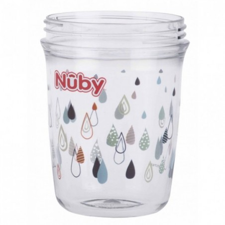 Nuby 360° Wonder cup met handvatten in Tritan™ - grijs