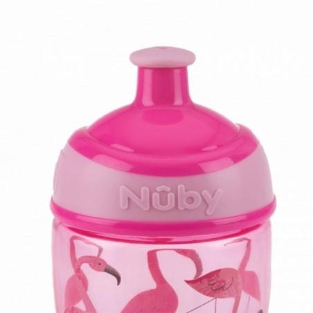 Nuby Sportieve Pop-Up drinkbeker uit Tritan™ - rose