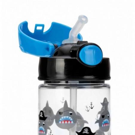 Nuby Gobelet thermos paille souple et bouton push en Tritan™ - bleu
