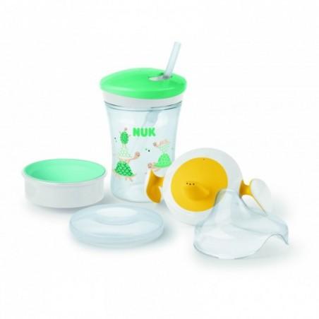 NUK Set d'apprentissage - 1 tasse + 2 embouts - 6m+