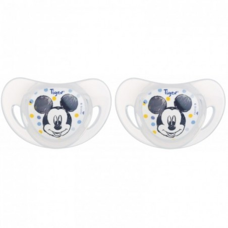Tigex Fysiologische fopspenen silicon Mickey 2 stuks