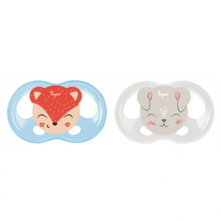 Tigex Sucettes SOFT TOUCH Silicone Biche-Chat 2 pièces