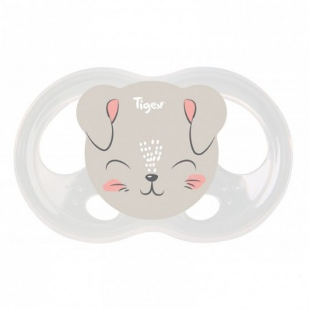 Tigex Fopspenen Soft Touch Silicon hinde-kat 2 stuks