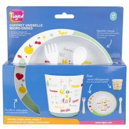 Tigex Coffret Vaisselle Micro-ondes Miam-Miam