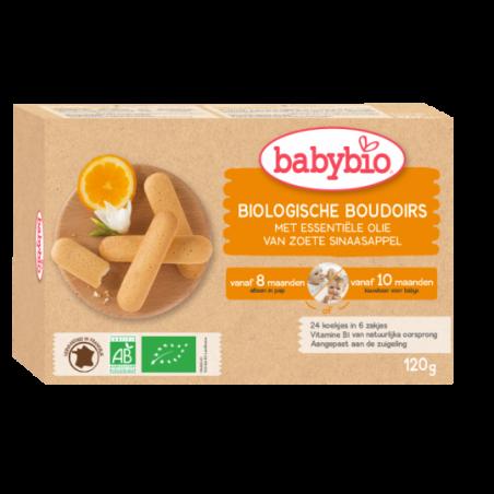 Babybio Babykoekjes - Boudoirs 6x4 stuks (vanaf 10 maanden) 24 stuks Bio