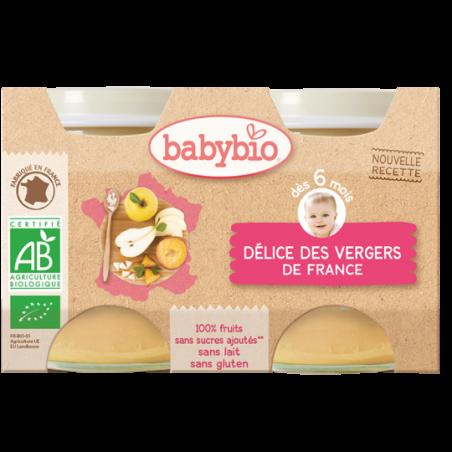 Babybio Délice des vergers (dès 4 mois) 2 pièces Bio