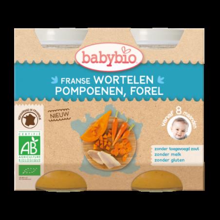 Babybio Wortelen - Pompoen (vanaf 4 maanden) 2 stuks Bio