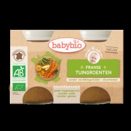 Babybio Tuingroenten (vanaf 4 maanden) 2 stuks Bio