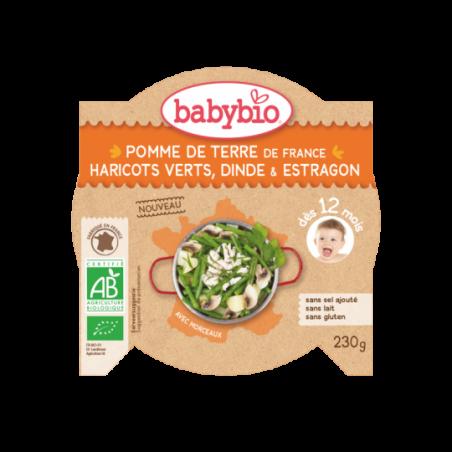 Babybio Aardappelen & boontjes - stukjes kalkoen (vanaf 12 maanden) Bio