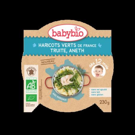 Babybio Haricots verts - Truite (dès 12 mois) Bio