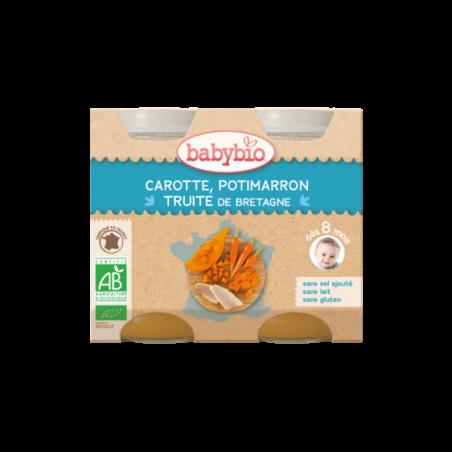 Babybio Wortel, Pompoen & Forel (vanaf 8 maanden) 2 stuks Bio