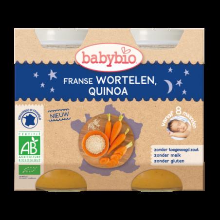 Babybio Bonne Nuit - Carotte & quinoa (dès 8 mois)  2 pièces Bio