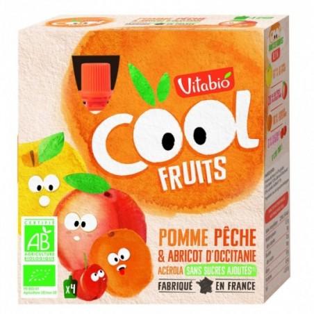 Vitabio Coolfruits Pomme - Pêche - Abricot 4 pièces Bio