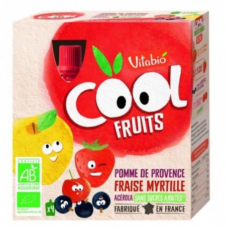 Vitabio Coolfruits Pomme - Fraise - Myrtille 4 pièces Bio