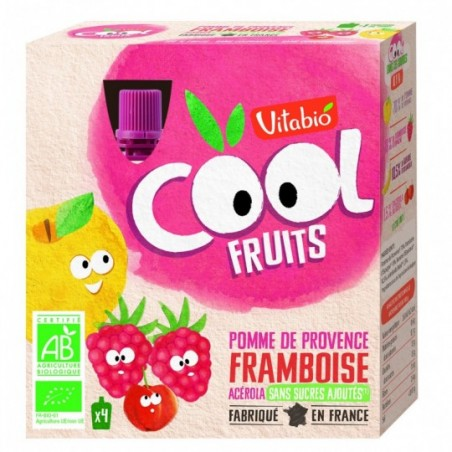 Vitabio Coolfruits Pomme - Framboise - Banane 4 pièces Bio