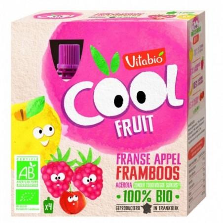 Vitabio Coolfruits Appel - Framboos - Banaan 4 stuks Bio