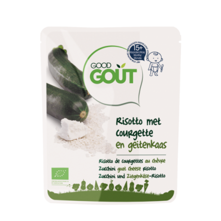 Good Gout Risotto de courgettes au chèvre  Bio
