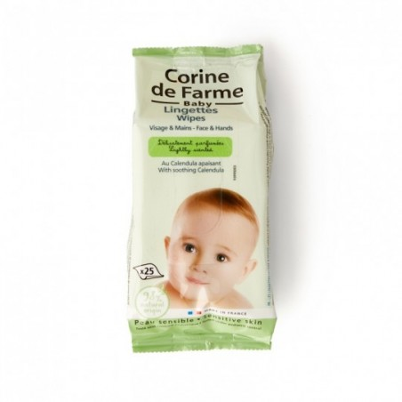 Corine de Farme Hydraterende doekjes gezicht en handen 25 stuks