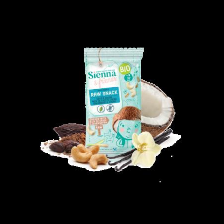 Sienna & Friends Snack Cru Noix de Coco & Cacao Bio