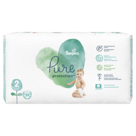 Pampers Pure protection Taille 2 39 pièces