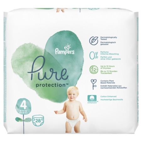 Pampers Pure protection Maat 4 28 stuks