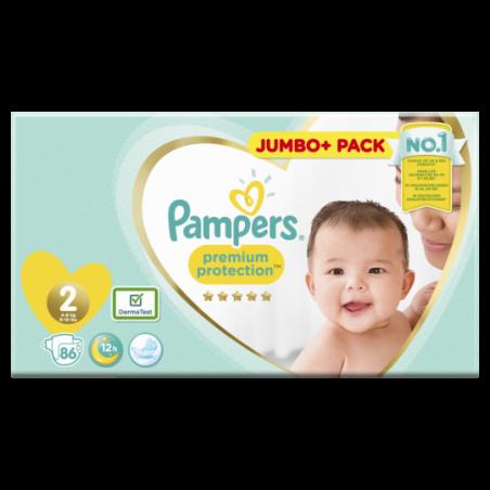 Pampers Premium protection Jumbo Maat 2 86 stuks
