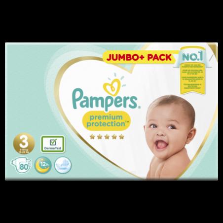 Pampers Premium protection Jumbo Maat 3 80 stuks