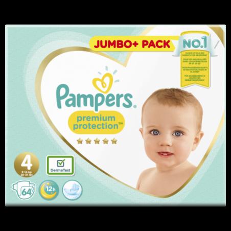 Pampers Premium protection Jumbo Maat 4 64 stuks