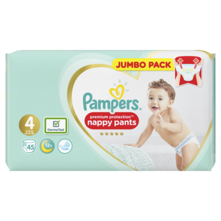 Pampers Premium protection PANTS  Taille 4 45 pièces