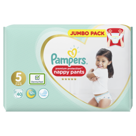 Pampers Premium protection PANTS  maat 5 40 stuks