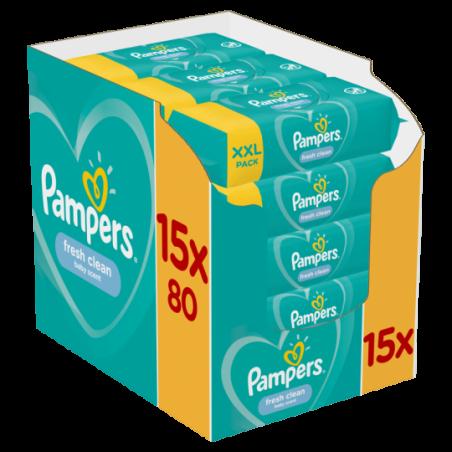 Pampers Doekjes fresh clean 1200 stuks