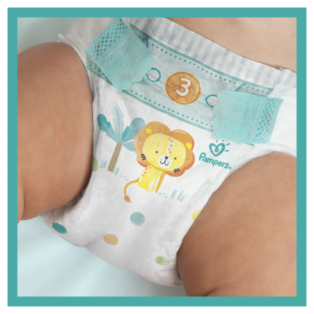 Pampers Baby dry maxi geant Taille 3 104 pièces
