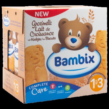 Bambix Lait de croissance avec biscuits 1-3 ans  6 pièces
