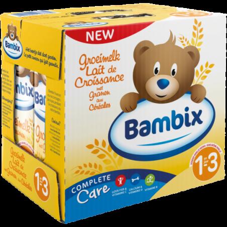 Bambix Groeimelk met granen 1-3 jaar 6 stuks
