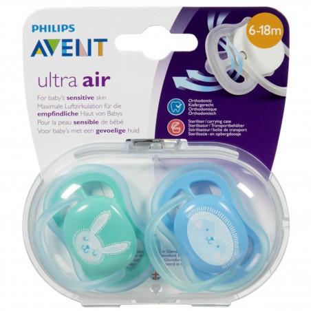 Philips Avent Sucette +6m Ultra Air Bleu